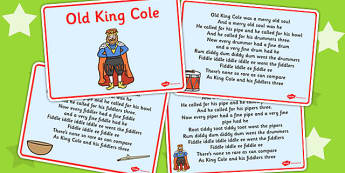 Old King Cole Story Sequencing - story sequencing, old king cole