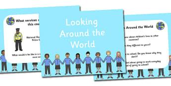 Look Around The World PowerPoint - look around the world, powerpoint, powerpoint about the world, round the world infromation, world, world facts