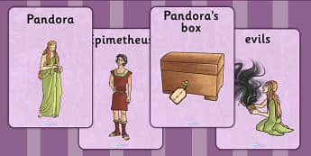 Pandoras Box Ancient Greek Myth Display Posters - greek mythology