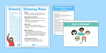 An Introduction to Debating Resource Pack - introduction, debating, resource, pack