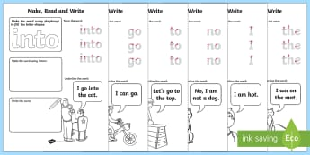 Phase 2 Tricky Words Make, Read and Write Activity Mats - EYFS Phonics Make, Read and Write Activity Mats, Letters and Sounds, Phase 2, phonics, letter sounds - EYFS Phonics Make, Read and Write Activity Mats, Letters and Sounds, Phase 2, phonics, le