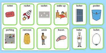 Medial 'k' Playing Cards -speech sounds, phonology, articulation, speech therapy, dyspraxia