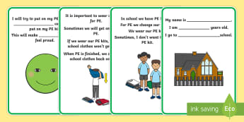 Why Do We Have to Get Changed for PE? Alt Social Story - social story, getting changed, PE kits, autism, ASD, PE