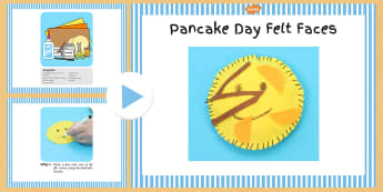 Pancake Day Felt Faces Craft Instructions PowerPoint - pancake, felt, faces, pancake day, instructions