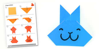 Origami Rabbit Activity - origami, rabbit, activity, paper, craft