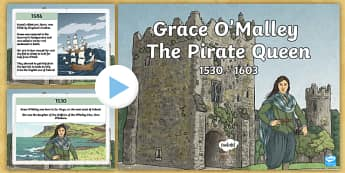 Grace O'Malley Timeline PowerPoint - Grace O'Malley, The Pirate Queen, timeline, powerpoint, Ireland, history, Irish history, story, SES