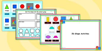2D Shape Flipchart Activity Pack - 2D shapes, shape, 2D, maths