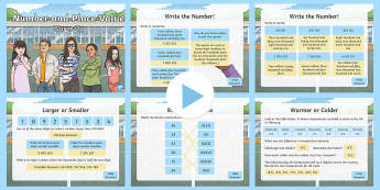 KS2 Maths Y6 Number and Place Value Warm-Up PowerPoint - KS2, Y6, Maths, Read, write, order and compare numbers up to 10 000 000 and determine the value of e