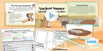 PlanIt History UKS2 Sumer Lesson 6 Agricultural Ambassadors Pack