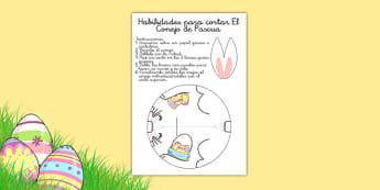 Ficha de motricidad fina - recortar El conejo de Pascua - Conejo de Pascua - semana santa, conejito