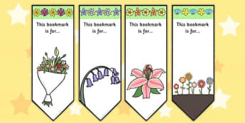 Flower Bookmarks - flower, plants, book mark, awards, reading
