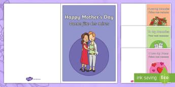 Cartes de la fête des mères - f^te des mères, fête des mères, fête, mères, maman, cartes, production d\'écrits, écriture,