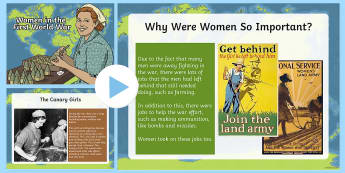 Women in the First World War KS2 PowerPoint
