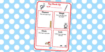 Toy Check Up Role Play Template - toy, check, role-play, template