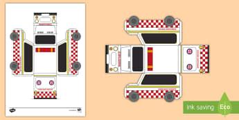3D Ambulance Paper Model Activity - 3D Ambulance Paper Model Activity - activities, crafts, craft, Australia