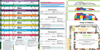 EYFS Bumper Planning Pack - Elmer, David McKee, colour, PSED, early years planning, continuous provision, adult led, enhancement