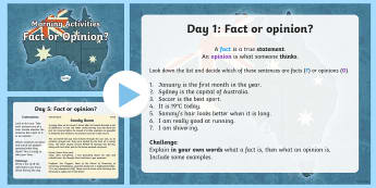 English Morning Activities Fact or Opinion PowerPoint - English Morning Activities Fact or Opinion  PowerPoint, fact, opinion, powerpoint, year 5, year 6, e