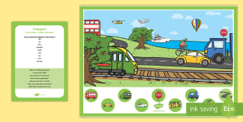 Transport Can you Find...? Poster and Prompt Card Pack - Transport and Travel, vehicles, care, boats, roads, planes, transport, types of transport