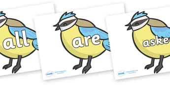 Tricky Words on Birds - Tricky words, DfES Letters and Sounds, Letters and sounds, display, words