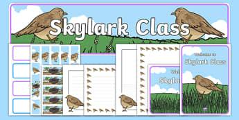 Skylark Class Resource Pack - skylark class, resource pack, skylark, class, bird