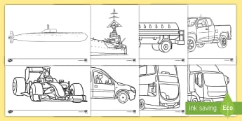 Transport Colouring Pages - transport, colouring, colours, games