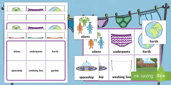 Matching Cards and Board to Support Teaching on Aliens Love Underpants - aliens love underpants, aliens love underpants matching game, aliens love underpants matching cards, sen