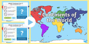 Continents of the World Interactive PowerPoint - Australian Curriculum, HASS, ACHASSK047, landforms, geographic location, Australian Geography, divis