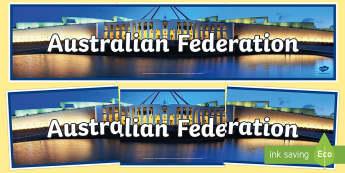 Australian Federation Display Banner-Australia