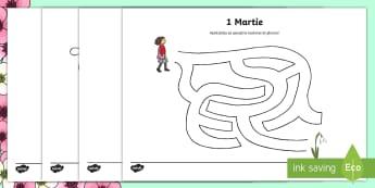 Simboluri de primăvară Găsește ieșirea din labirint - Spring, primăvara, primăvară, joc, labirint, joc logic, unește, mărțișor, mărțișoare, mart