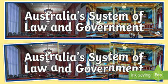 Australia's System of Law and Government Display Banner-Australia