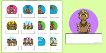 Pacific Islands Themed Self Registration Labels - nz, new zealand, pacific islands, self-registration