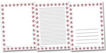 Starfish Portrait Page Borders- Portrait Page Borders - Page border, border, writing template, writing aid, writing frame, a4 border, template, templates, landscape