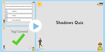 Shadows PowerPoint Quiz - shadows, powerpoint, quiz, quizzes