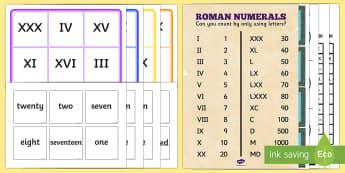 Roman Numerals KS2 - Roman Numerals KS2 Resources - Roman Numerals KS2 - Roman Numerals KS2 Resources, roman, numerals, lessons