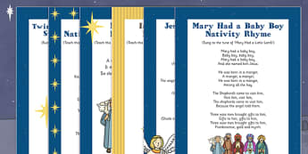 Nativity Songs and Rhymes Pack - nativity, song, rhyme, pack, resources