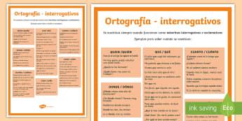 Ortografía: Interrogativos - ortografía, acentuación, interrogativas, normas de acentuación,Spanish