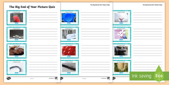 LKS2 The Big End of the Year Picture Quiz Activity Sheet - year 3, year 4, game, end of term, close ups, LKS2, worksheet