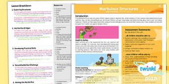 PlanIt - D&T UKS2 - Marbulous Structures Planning Overview