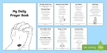 Roman Catholic Daily Prayer Book Print-Out - prayers, daily prayers, pupil prayer book, Roman Catholic, print-out, RE, religion, Irish
