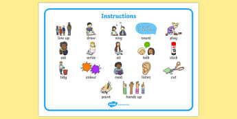 New EAL Starter Instructions Word Bank - literacy, words, mats