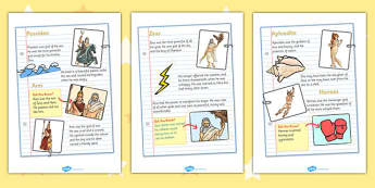 Greek God Fact File - greek gods, greek god factfiles, greek god fact sheets, greek god fact posters, greeks, ancient greece, greek facts, ks2 history