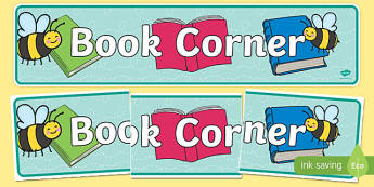 Bee Themed Book Corner Display Banner
