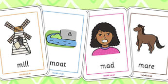 Initial m Sound Playing Cards - initial m, sounds, playing cards