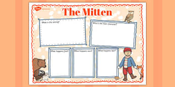 The Mitten Book Review Writing Frame - the mitten, book review