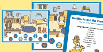 Goldilocks and the Three Bears Can you Find...? Poster and Prompt Card Pack