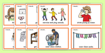 How to Look After Myself Visual Aid Cards - healthy living, healthy eating, healthy living cards, how to look after myself cards, taking care of me