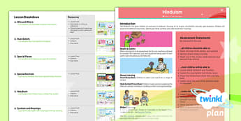 PlanIt - RE Year 3 - Hinduism Planning Overview - planit, religious education, overview