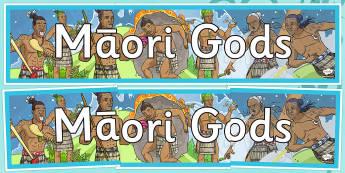 Maori Gods Display Banner - nz, new zealand, Maori Gods, display banner, display, banner