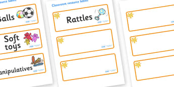 Amber Themed Editable Additional Resource Labels - Themed Label template, Resource Label, Name Labels, Editable Labels, Drawer Labels, KS1 Labels, Foundation Labels, Foundation Stage Labels, Teaching Labels, Resource Labels, Tray Labels, Printable la
