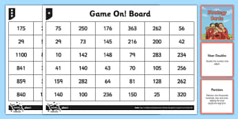 Year 5 Mental Maths Game On Strategy Pack - addition, add, subtract, subtraction, mental, mentally, mental calculations, strategy, compensation, partitioning, near doubles, game, differentiated